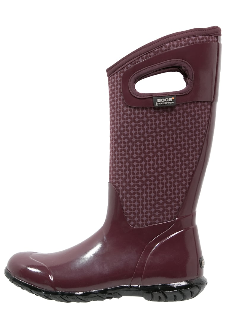 Bogs NORTH HAMPTON Kalosze eggplant/multicolor - 72039