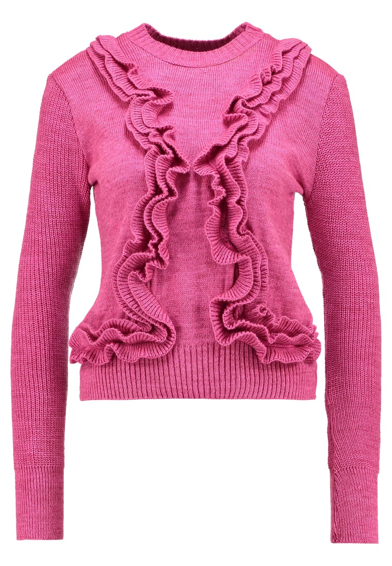 Lost Ink 3D RUFFLE JUMPER Sweter pink - 0601119051930059
