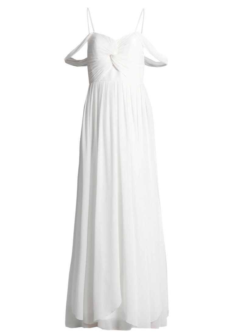 YAS BRIDAL YASMOLLY COLD SHOULDER MAXI DRESS Suknia balowa white - 26010122