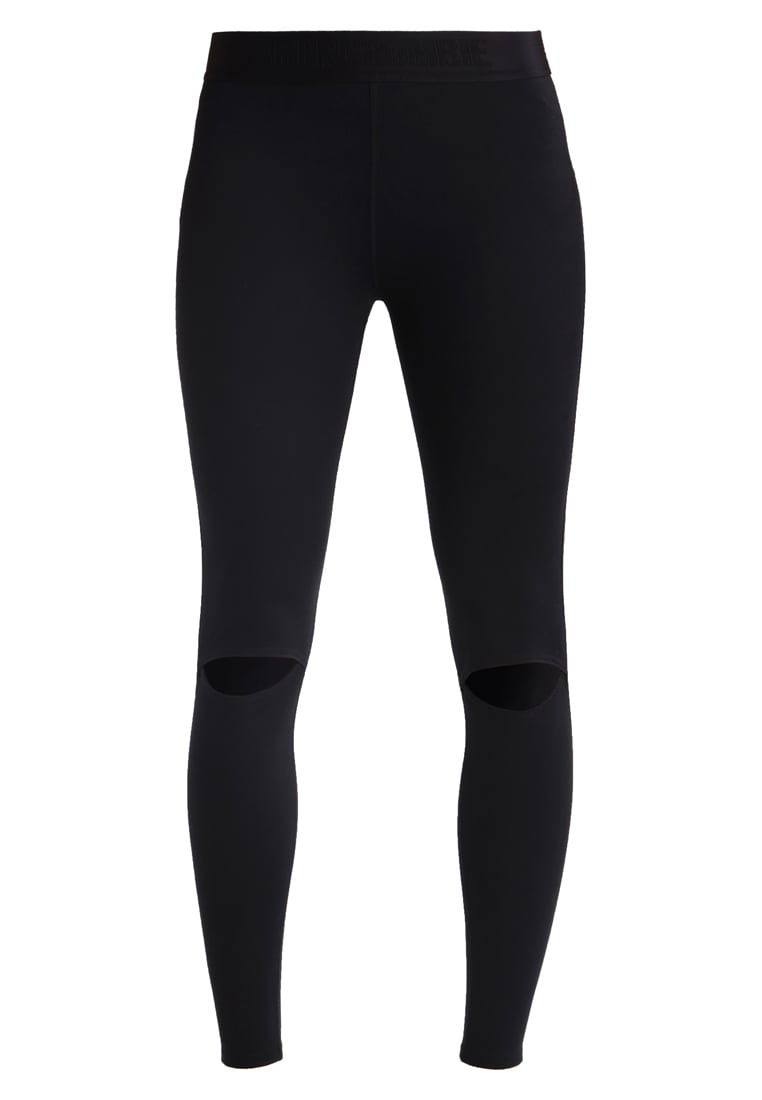 Abercrombie & Fitch ACTIVE COLD KNEES Legginsy black - KI147-7122