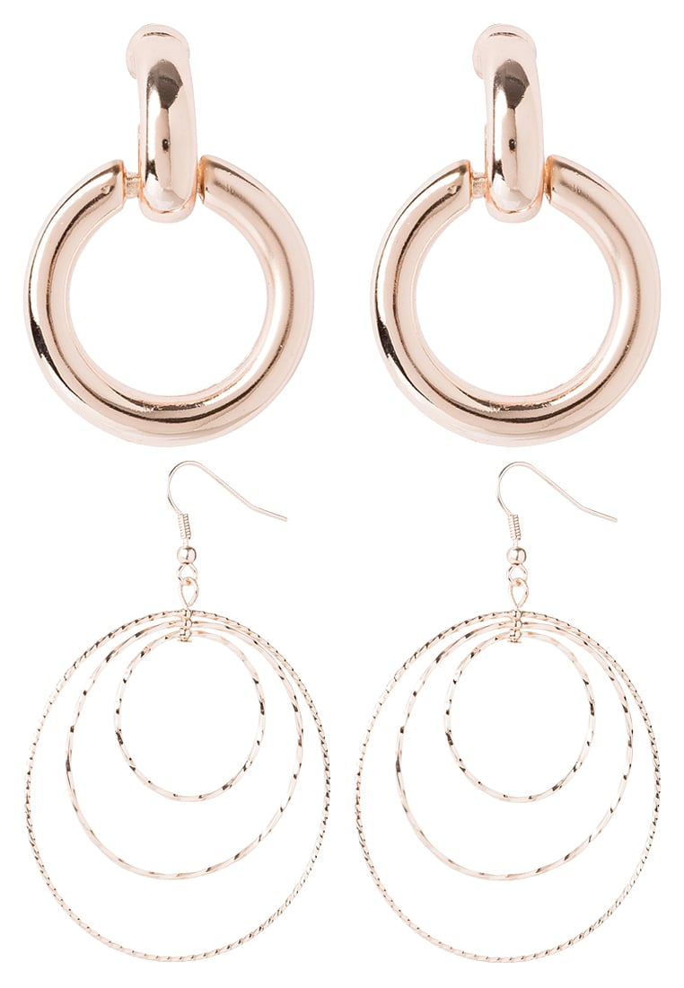 Miss Selfridge 2PACK SMOOTH Kolczyki rose goldcoloured - ZL79ER00014GO2RG