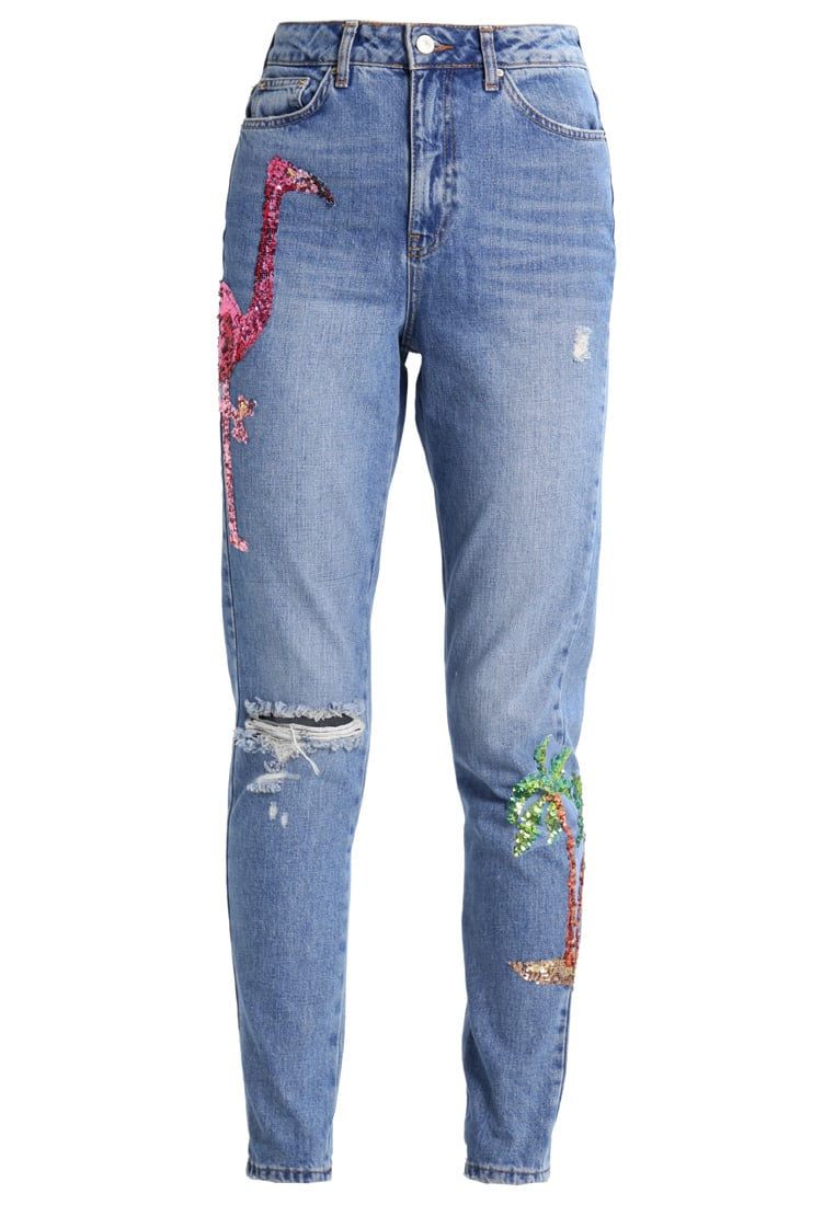 Topshop Tall FLAMINGO MOM Jeansy Relaxed Fit blue - 30A33LSUL