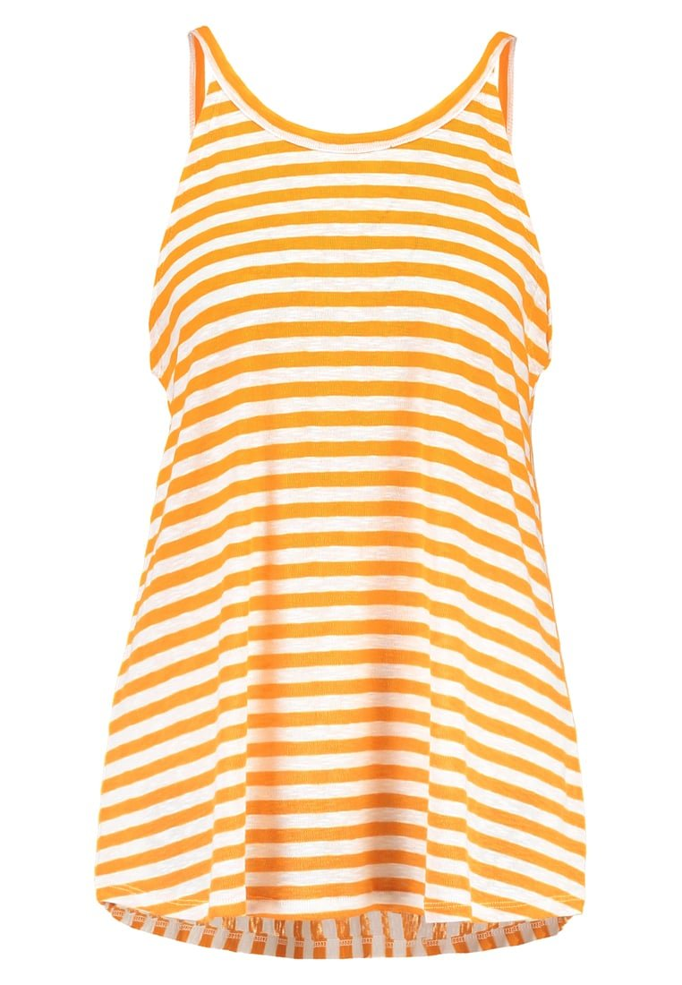 Mads Nørgaard BUNELLA Top orange/white - 90232