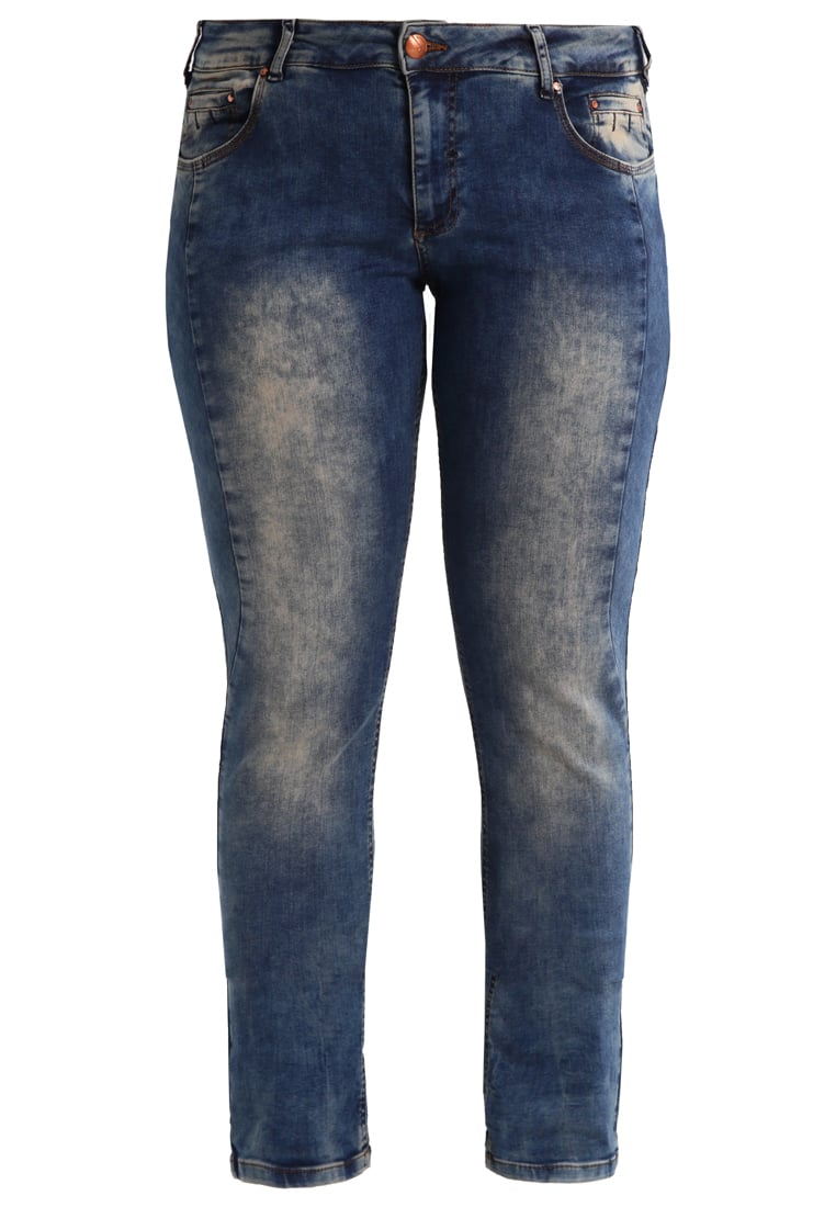 Zizzi EMILY Jeansy Slim fit blue denim - J99433B