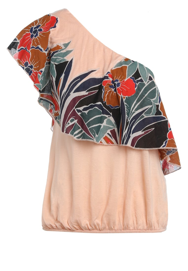 Free People ANNKA BUBBLE Tshirt z nadrukiem peach - OB574845