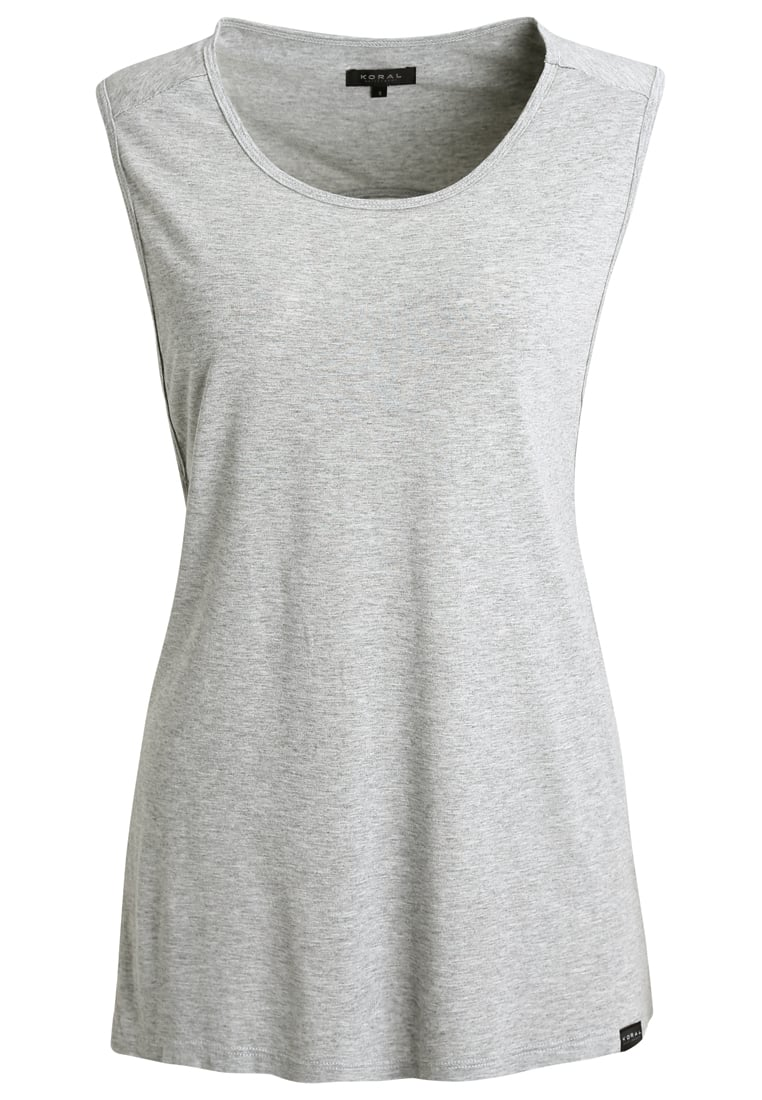 Koral Activewear AURA Top heather grey - A6033M70