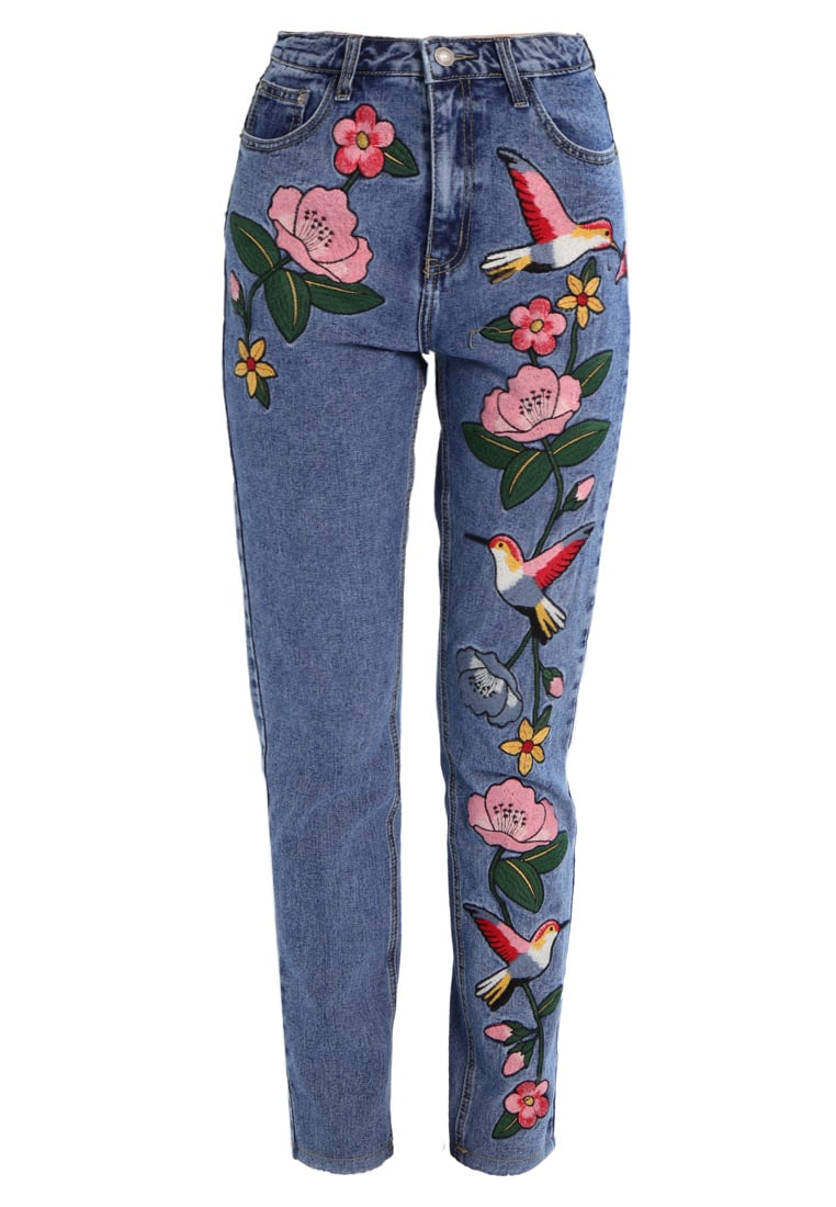 Glamorous Jeansy Relaxed fit mid blue - AC1270