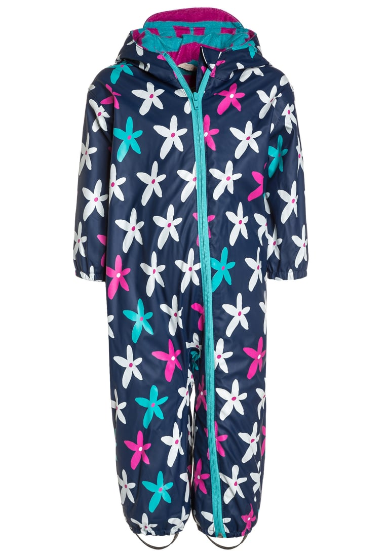 Hatley GRAPHIC FLOWERS RAIN BUNDLER Kombinezon dark blue - RCBGAFL