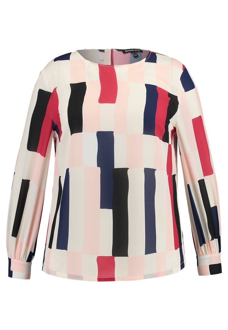 Second Script Curve BELL SLEEVE Bluzka multicolor - SSAW1758
