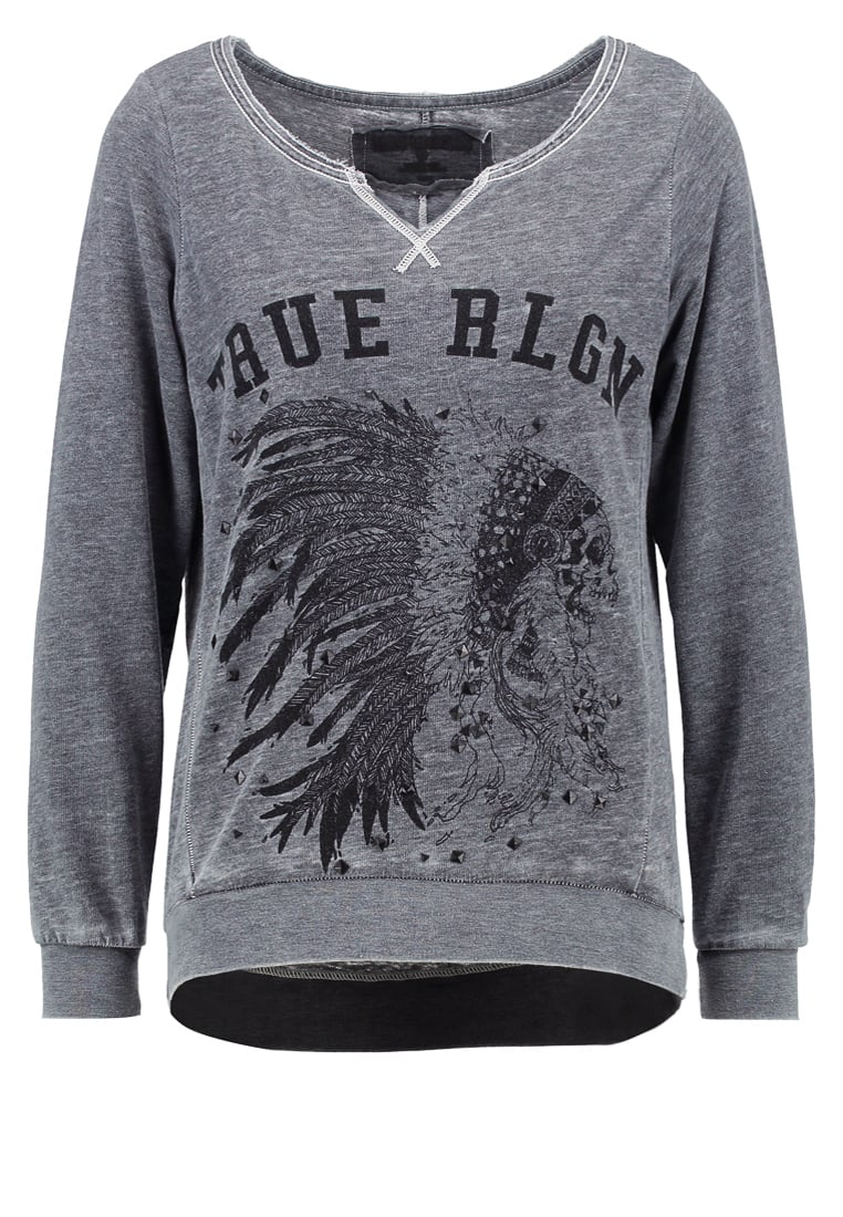 True Religion Bluza jet black - W16FF15H5G