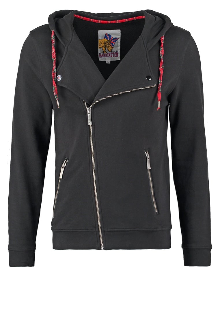 HARRINGTON Bluza rozpinana noir - HOODED SWEAT