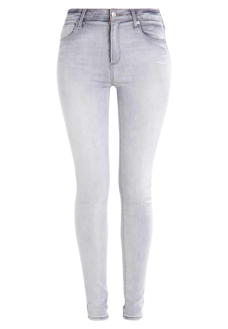 Abercrombie & Fitch HIGH RISE SUPER SKINNY Jeans Skinny Fit grey - KI155-7239