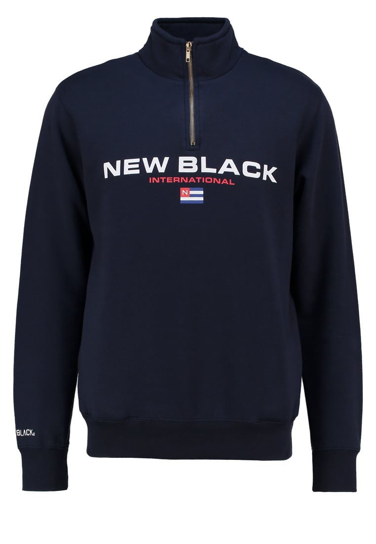 New Black Bluza navy - Sport Half Zip Crew