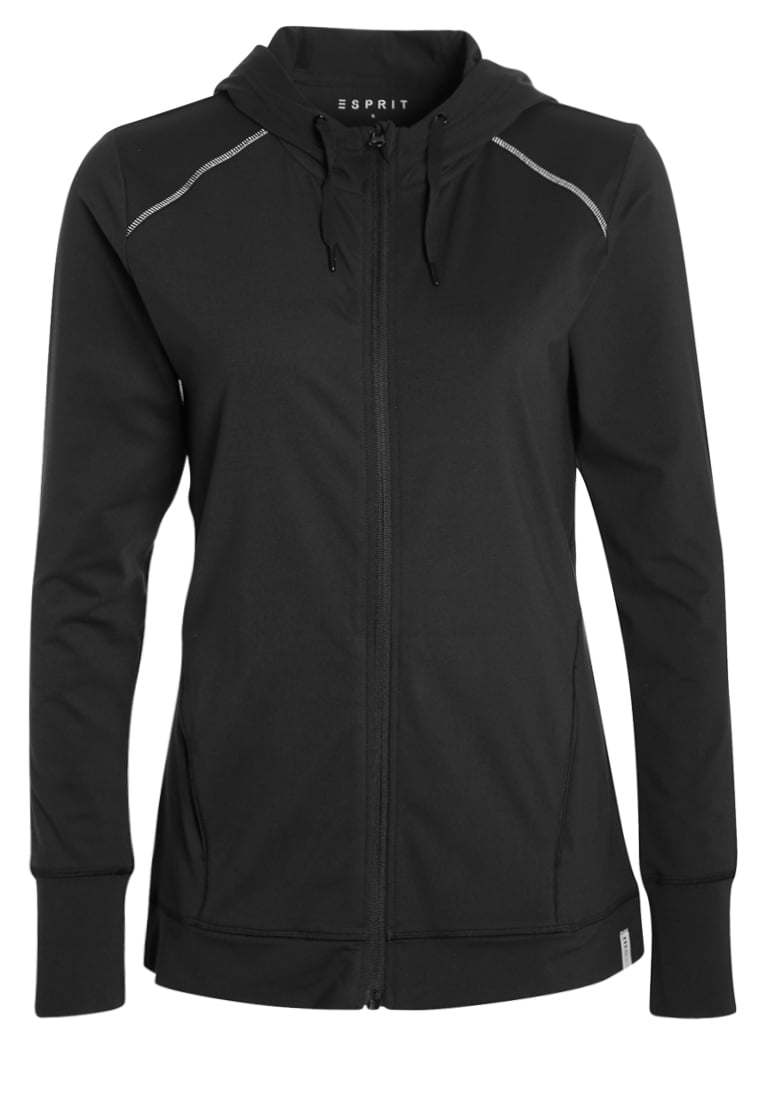 Esprit Sports Bluza rozpinana black - 017EI1G001