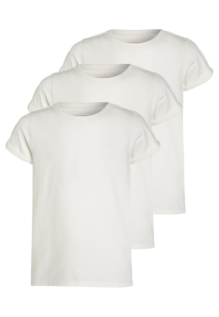 Friboo 3 PACK Tshirt basic white - 3Pack T-Shirt