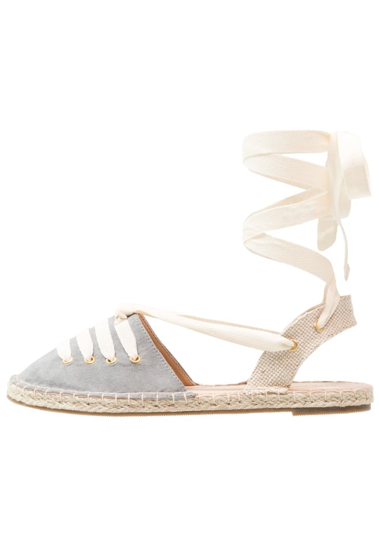 Head over Heels by Dune GIAH Espadryle grey - GIAH