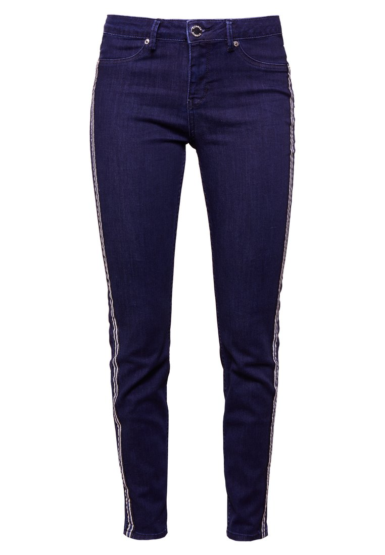 2nd Day JOLIE CROPPED TAPE Jeansy Slim Fit dark blue - 2178724300