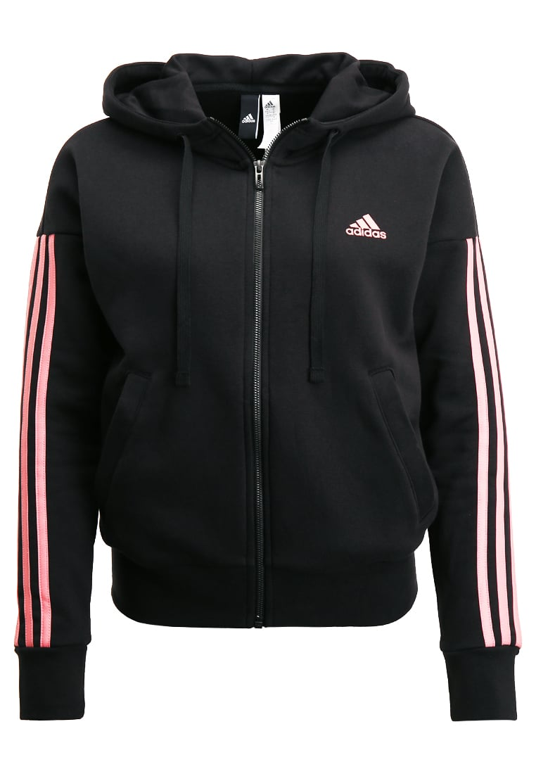 adidas Performance ESSENTIALS Bluza rozpinana black/tacros - BX372