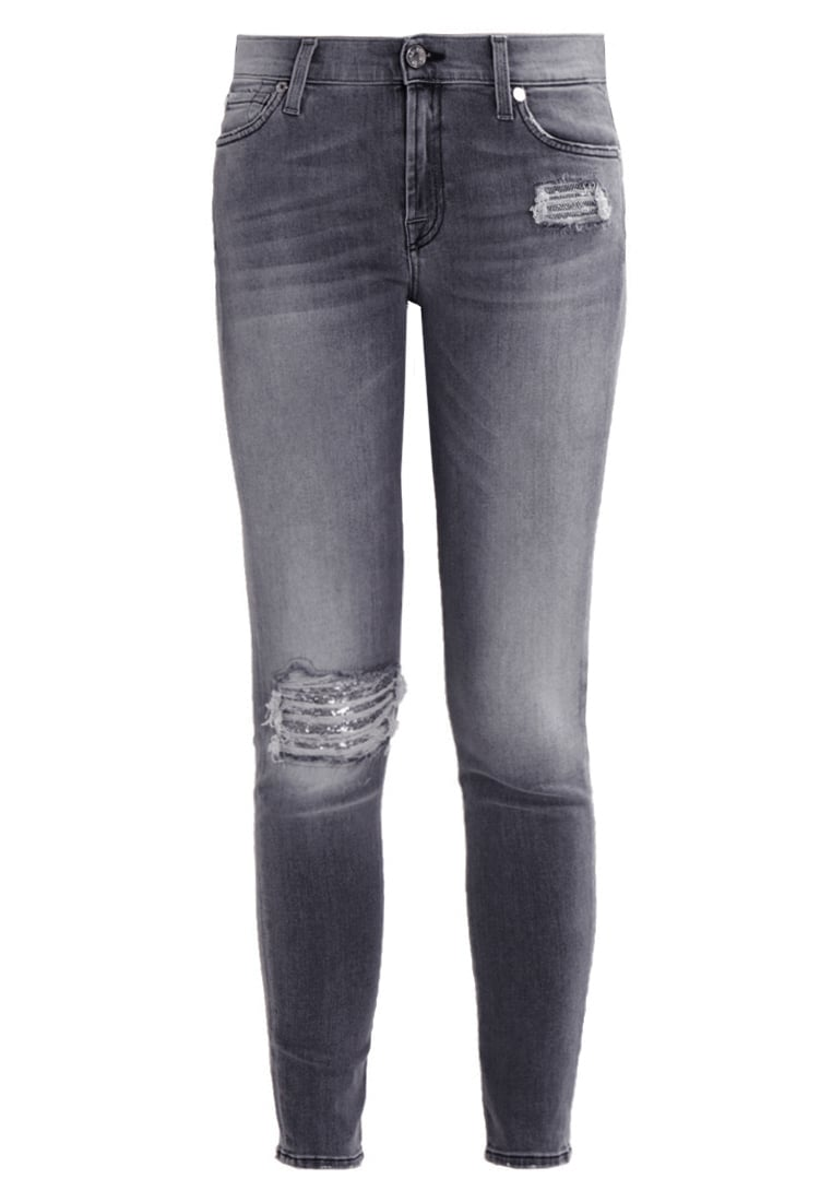 7 for all mankind Jeansy Slim fit washed grey sequinse - SWTL85CLG
