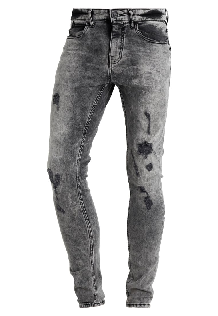 New Look ACID WASH Jeans Skinny Fit black - 5265720