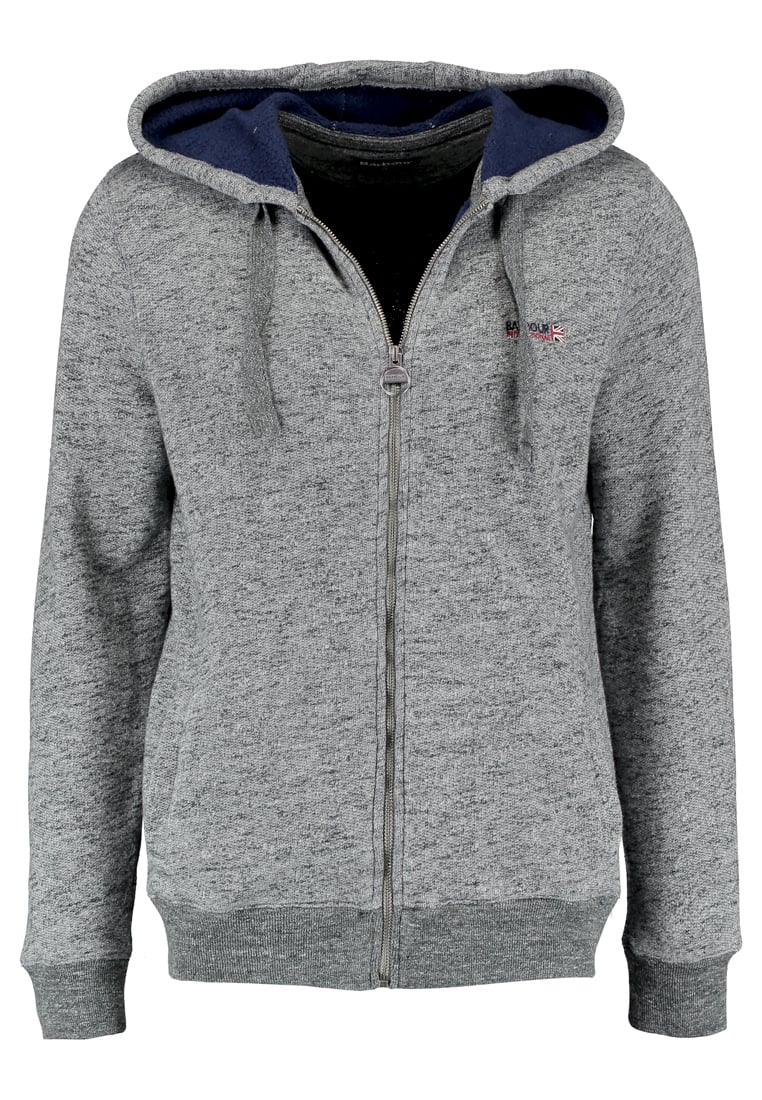 Barbour International™ CYLINDER HOODIE Bluza rozpinana slate grey - MOL0074