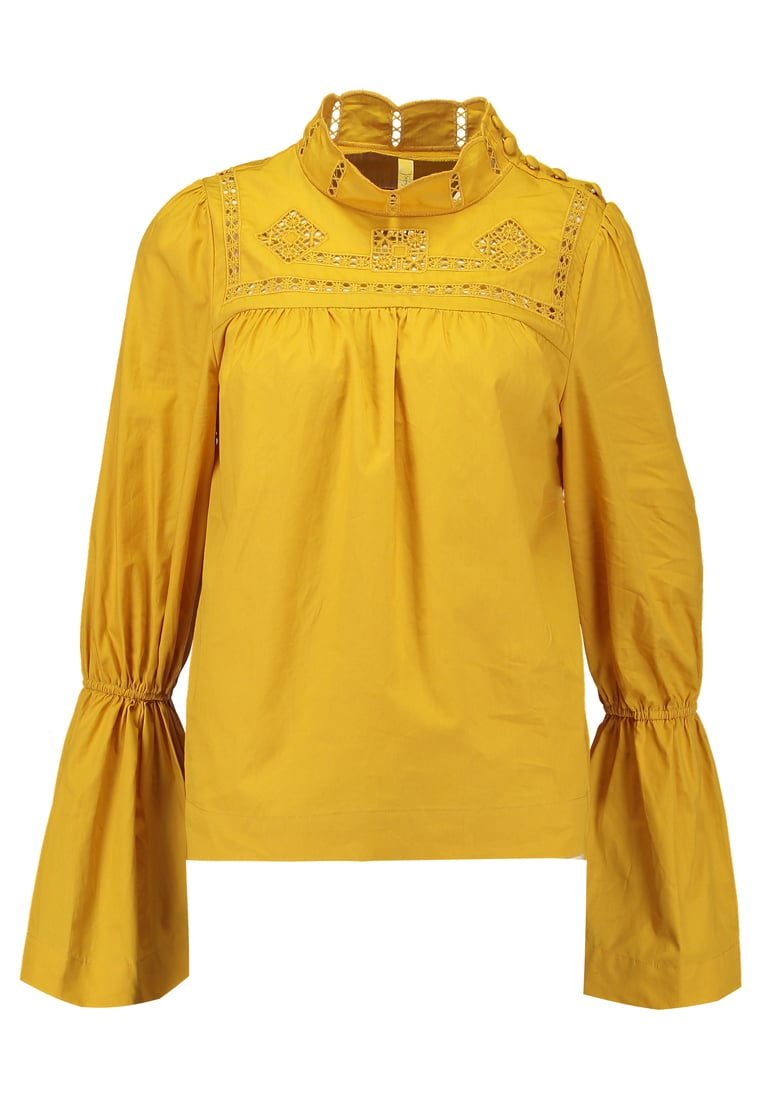Free People ANOTHER ETERNITY Bluzka mustard - OB620461