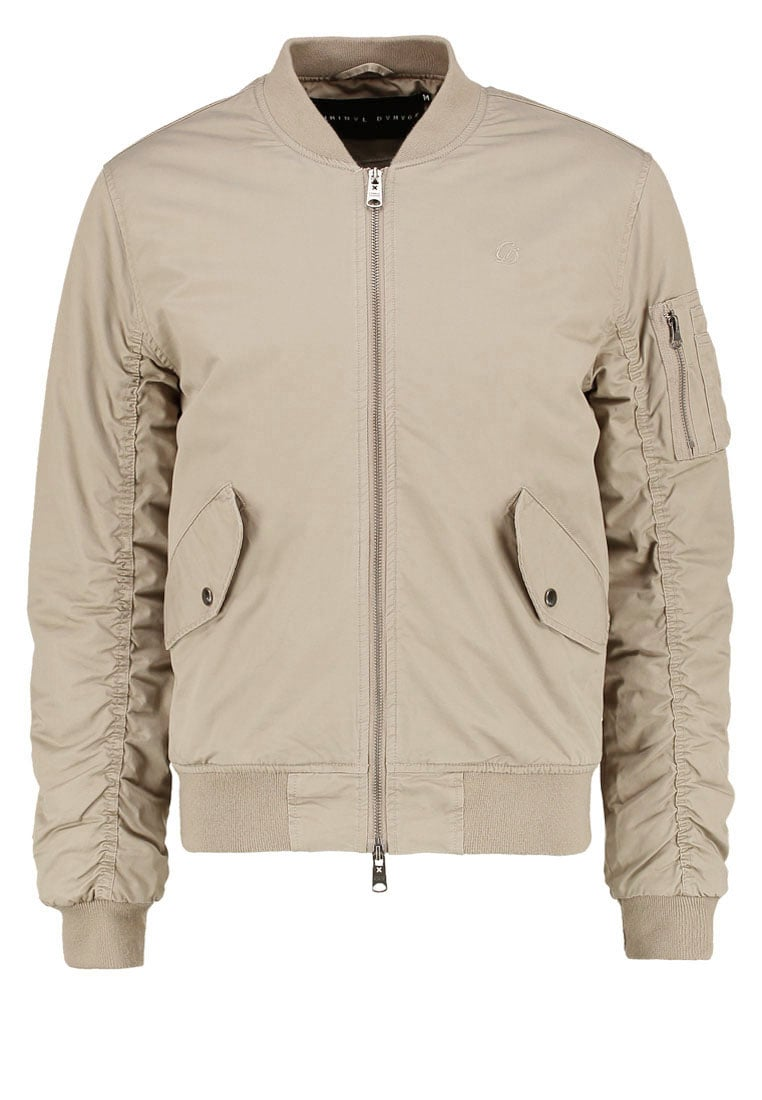 Criminal Damage AIRFORCE Kurtka Bomber stone - AIRFORCE JACKET