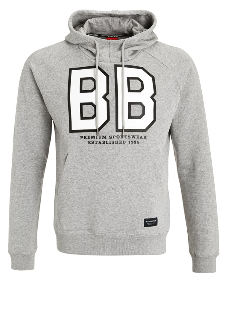 Björn Borg LINUS Bluza z kapturem light grey melange - 632221