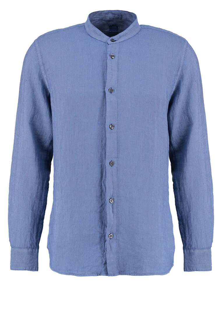 120% Lino GURU SLIM FIT Koszula federal blue - L0M 1159 F366 001