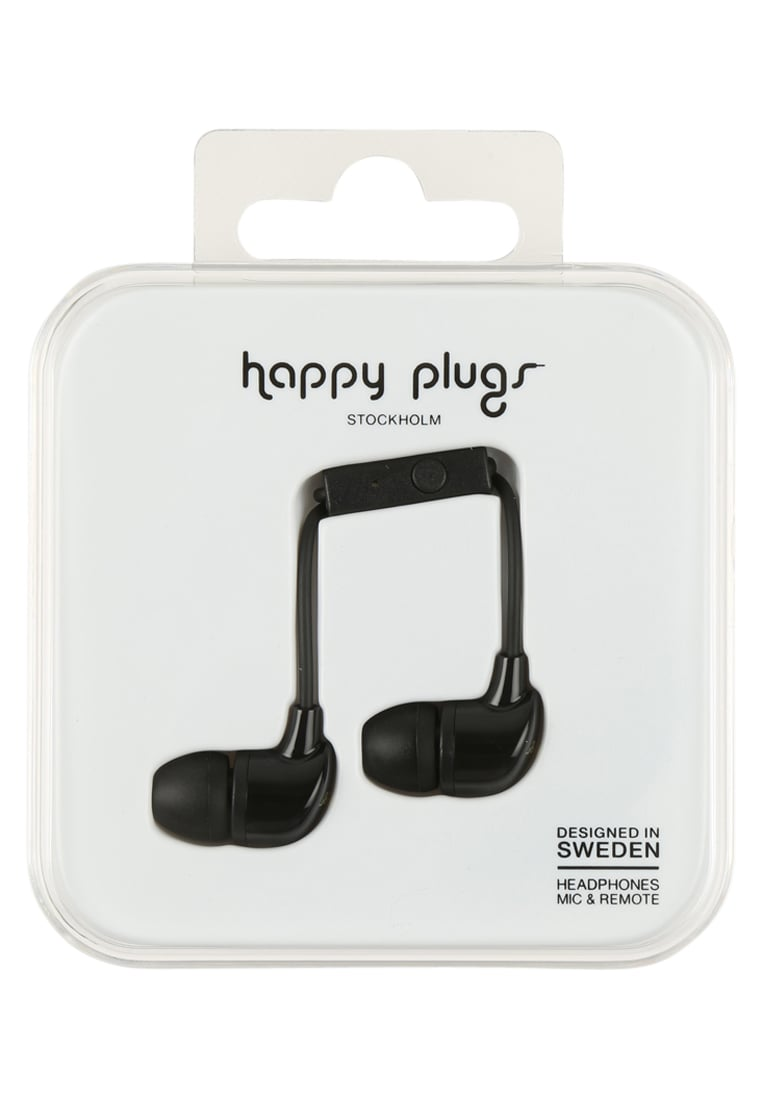 Happy Plugs Słuchawki black - Happy Plugs In-Ear