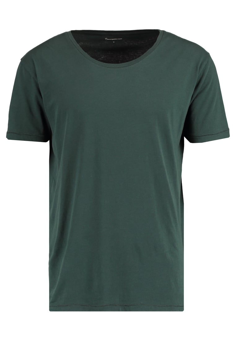 Knowledge Cotton Apparel BASIC FIT ONECK Tshirt basic green gables - 10110
