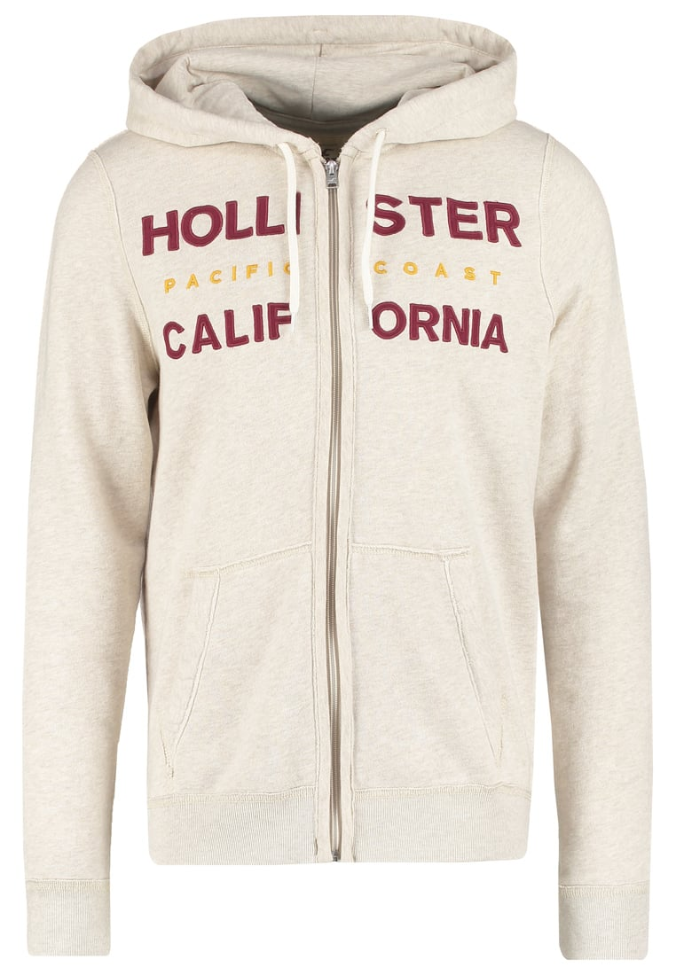 Hollister Co. Bluza rozpinana oat meal - KI322-6200