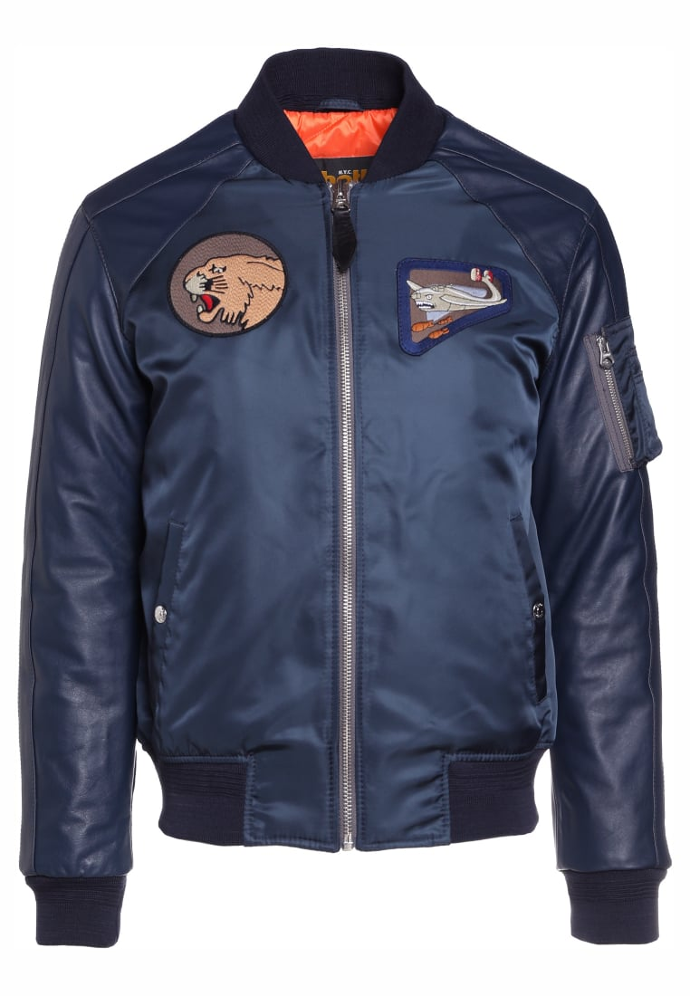 Schott Made in USA Kurtka Bomber navy - J-6000