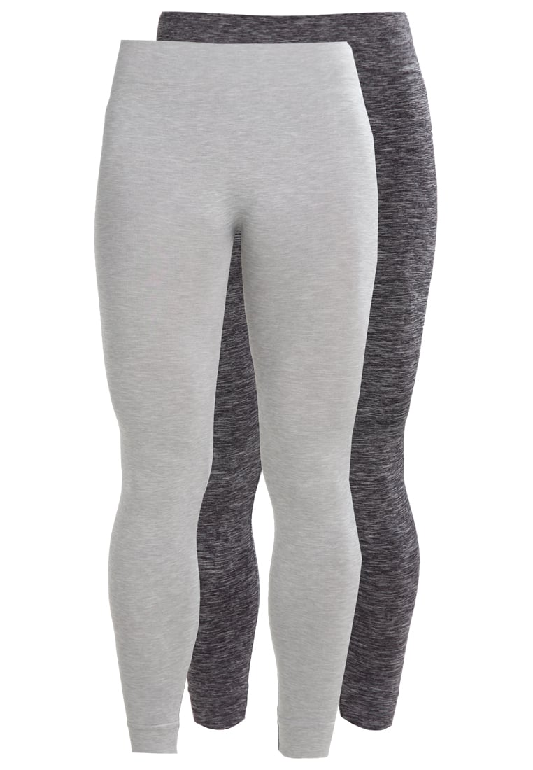 Even&Odd active 2 PACK Legginsy antrazit/dark grey melange - EV9_SS17_4-1-E_031