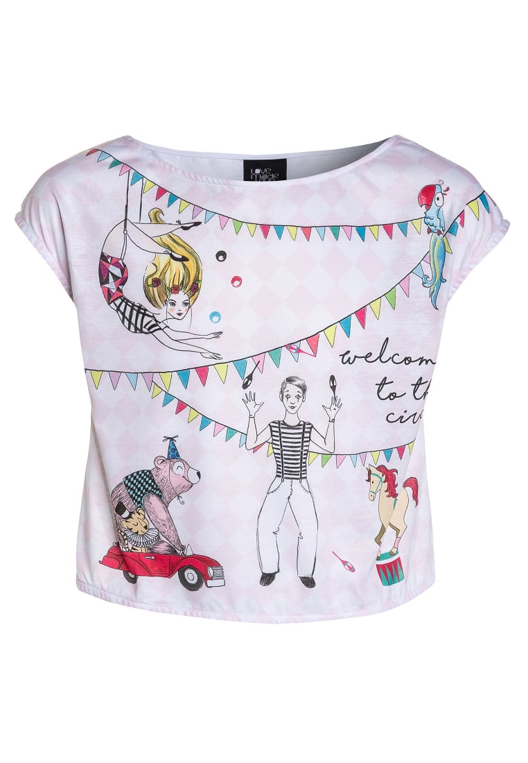 Love Made Love CIRCUS Tshirt z nadrukiem white - 170164