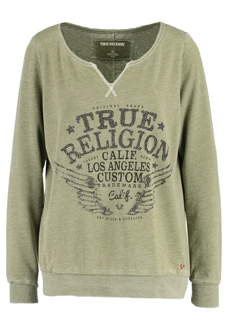 True Religion Bluza dusty olive - W17UF22H5G-3501