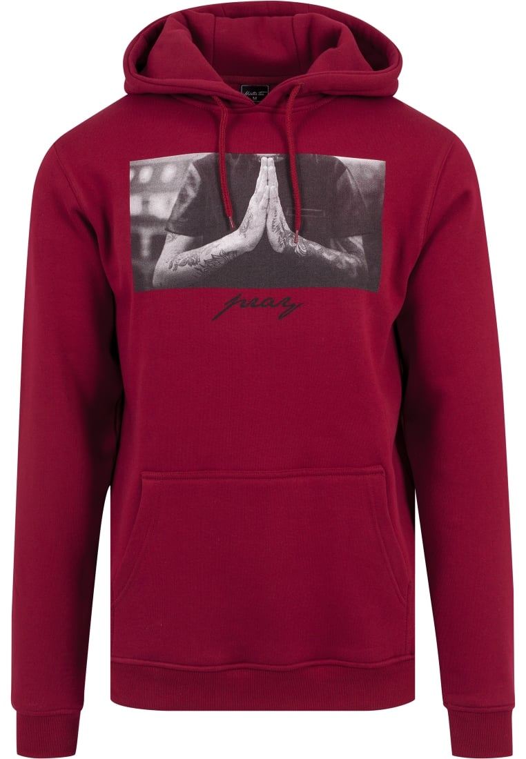 Mister Tee PRAY Bluza z kapturem ruby - MT275