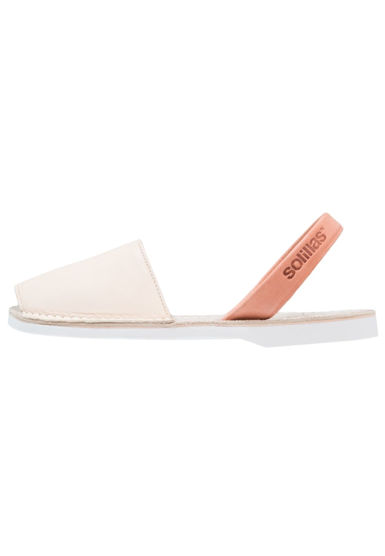 Solillas Sandały cream - SURF SANDALS - CREAM LEATHER & NUBUCK MIX