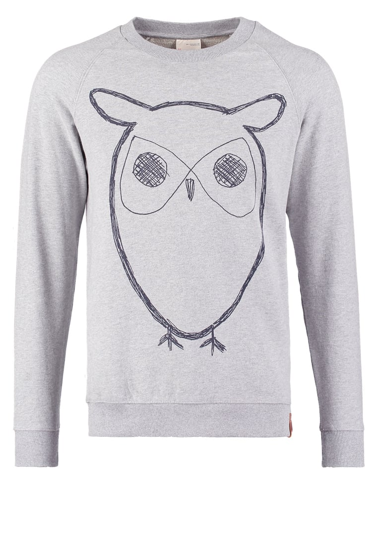Knowledge Cotton Apparel BIG OWL Bluza grey melange - 30295