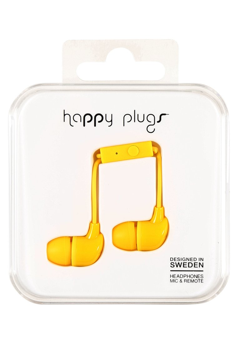 Happy Plugs Słuchawki yellow - Happy Plugs In-Ear