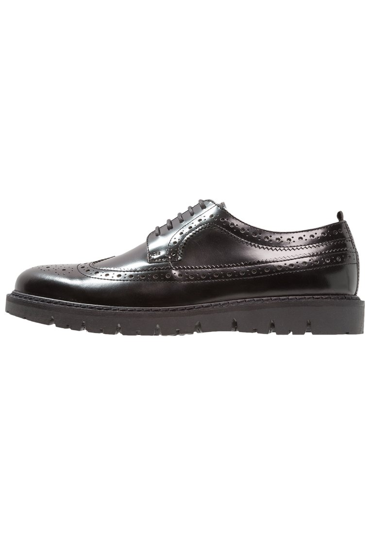 Walk London TIMMY BROGUE Eleganckie buty black high shine - 15795