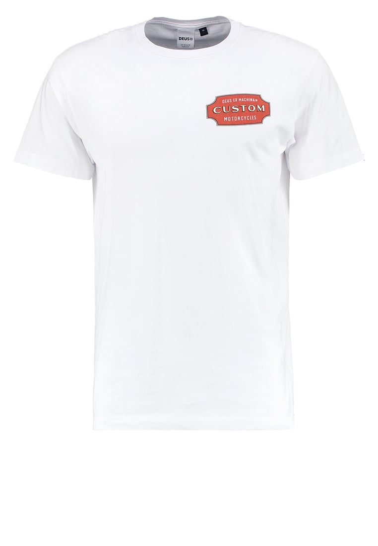 Deus Ex Machina BADGE Tshirt z nadrukiem white - DMP71468B