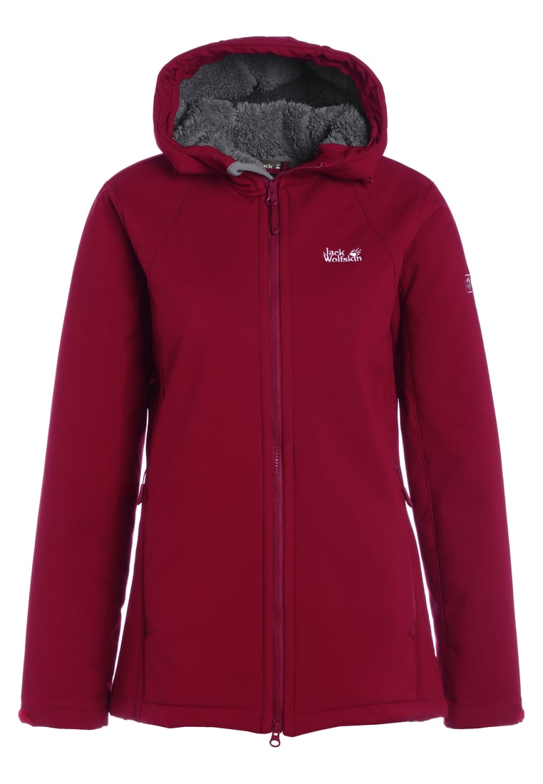 Jack Wolfskin ROCK VALLEY Kurtka Softshell garnet red