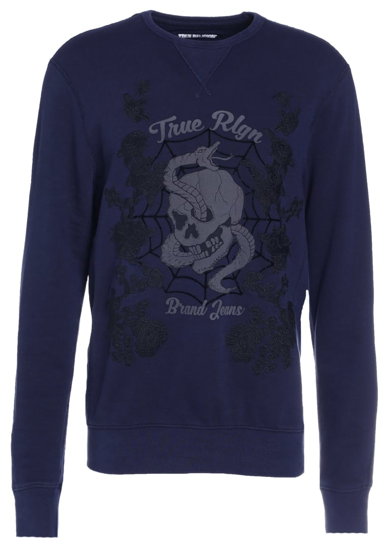True Religion Bluza navy - M17FF33F2G