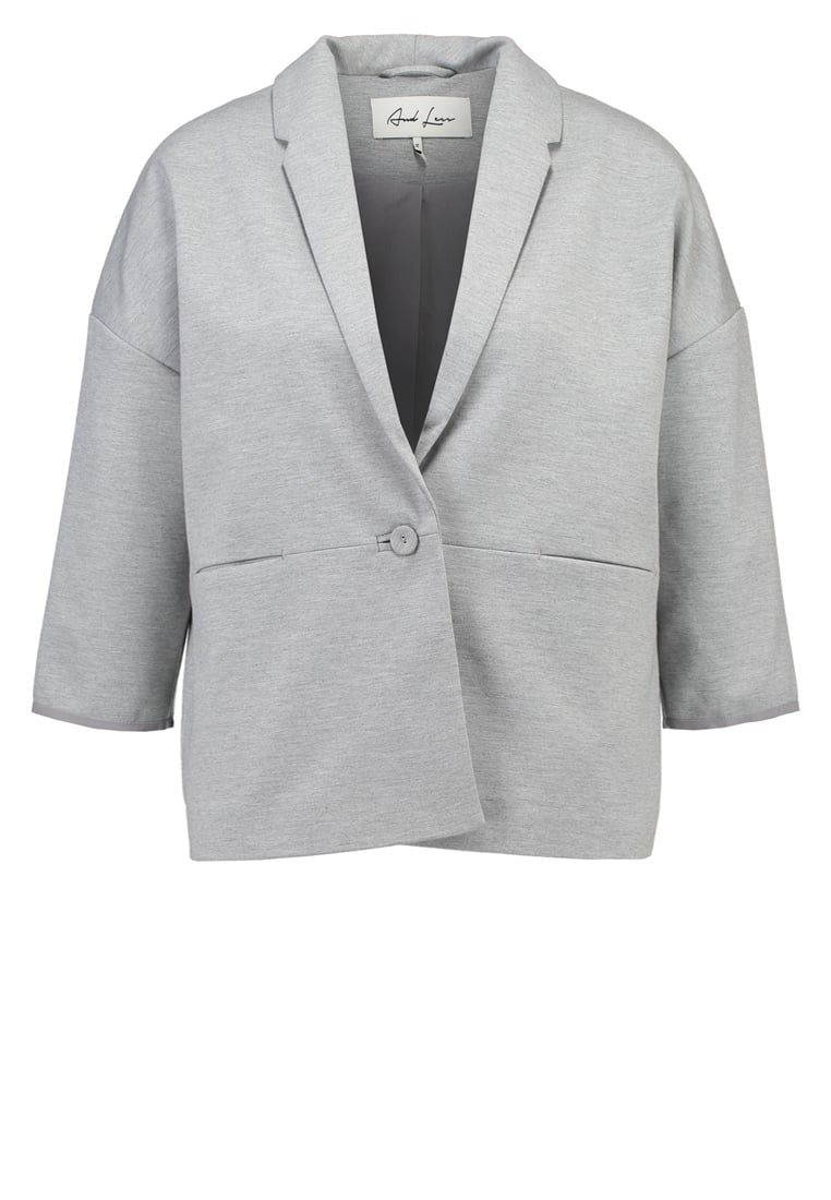 And Less BIKBEGEN Żakiet light grey melange - 5217906