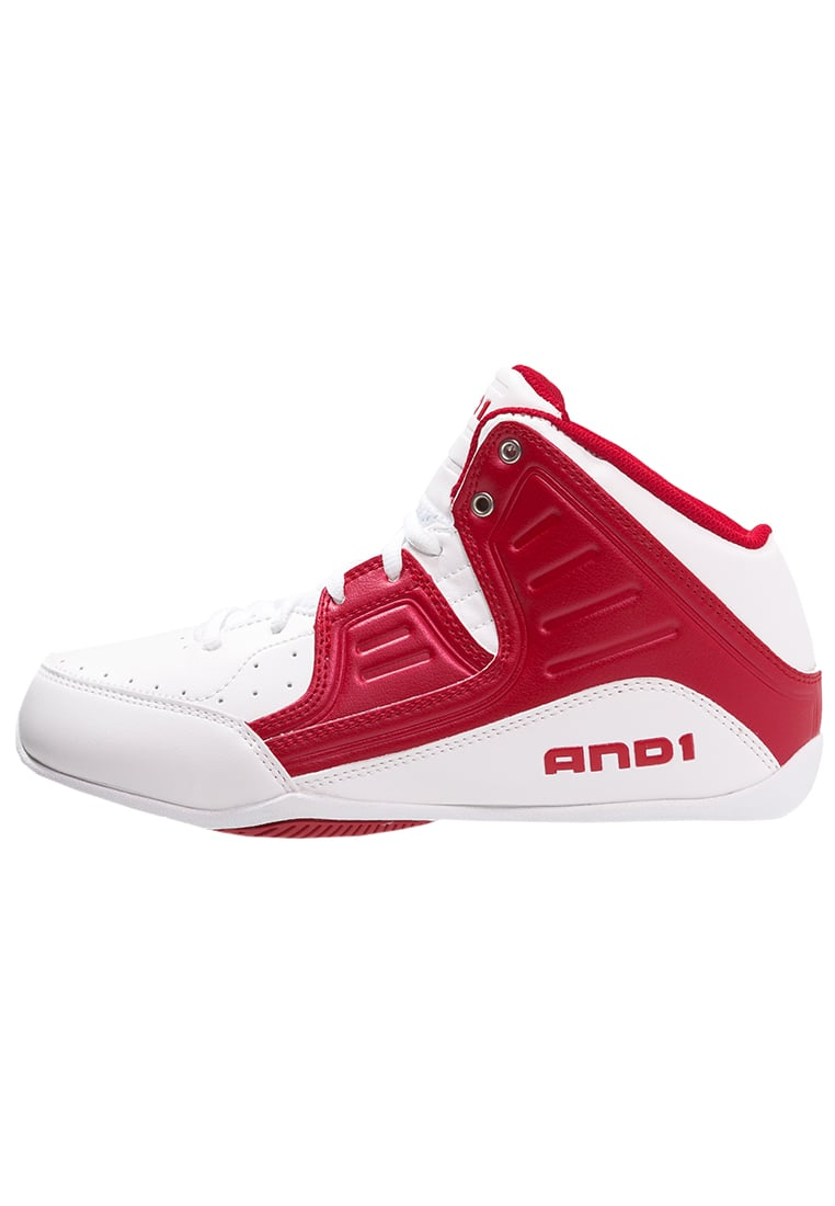 AND1 ROCKET 4 Buty do koszykówki white/red - D1083M