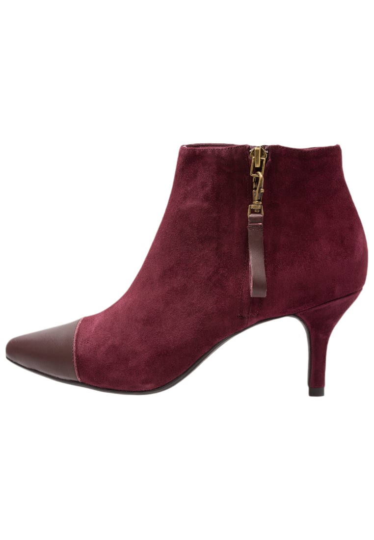 Shoe The Bear AGNETE MIX Ankle boot burgundy - STB1182