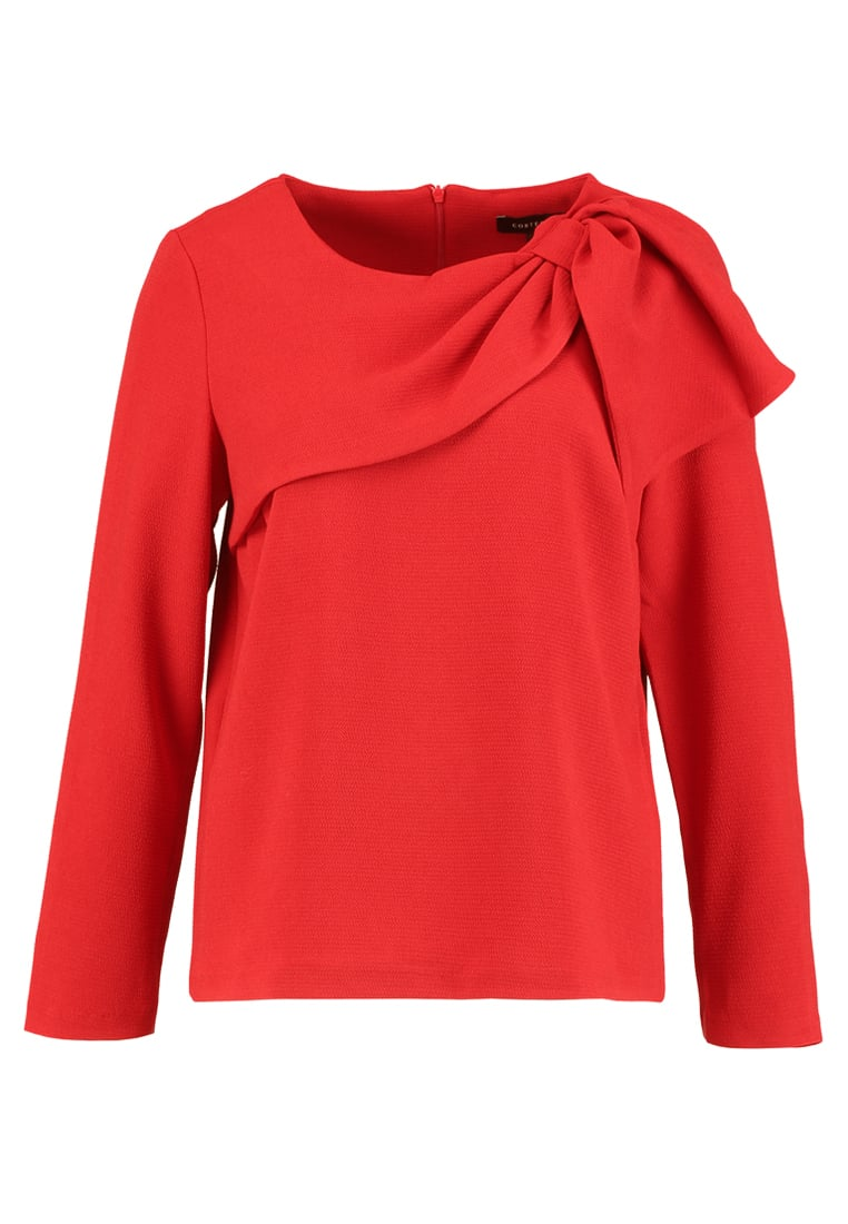 Cortefiel BLOUSE WITH SIDE BOW DETAIL Bluzka red - 5702895