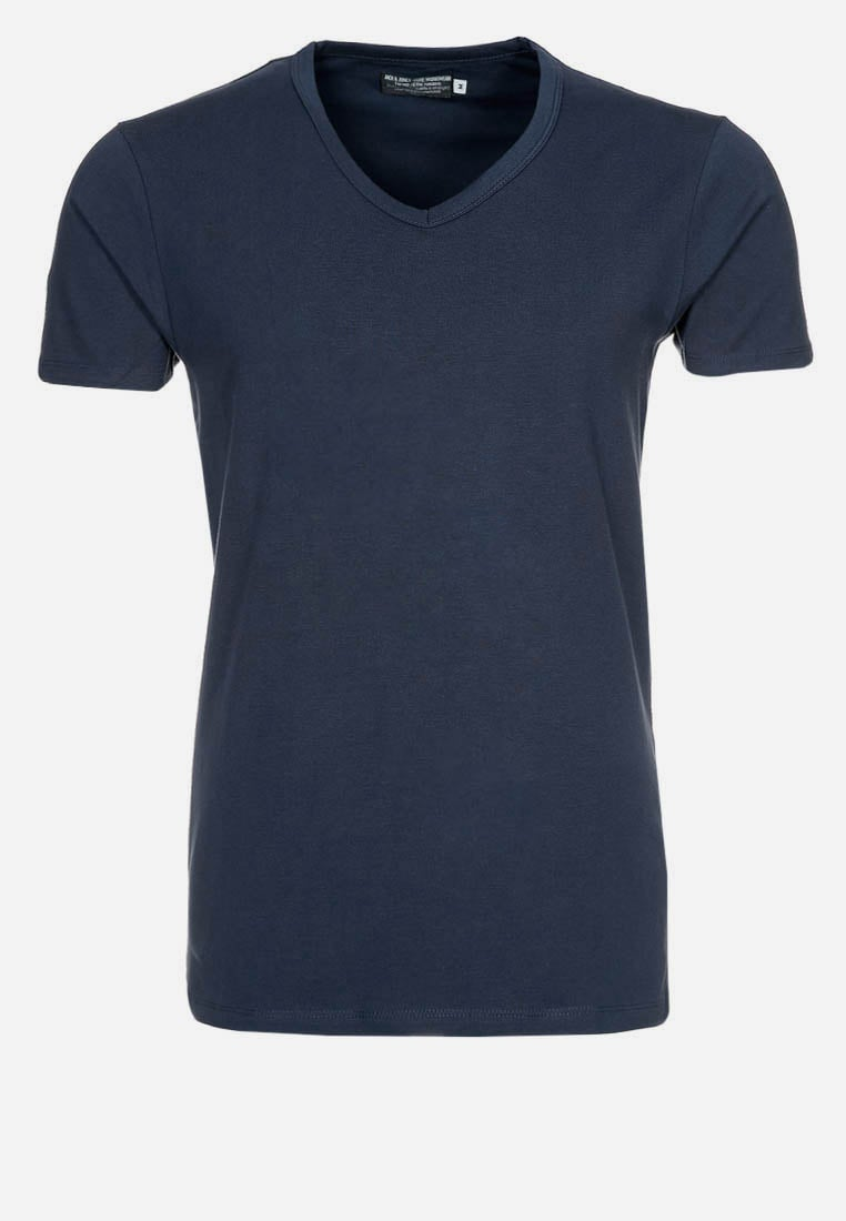 Jack & Jones BASIC VNECK Tshirt basic navy blue - 12059219