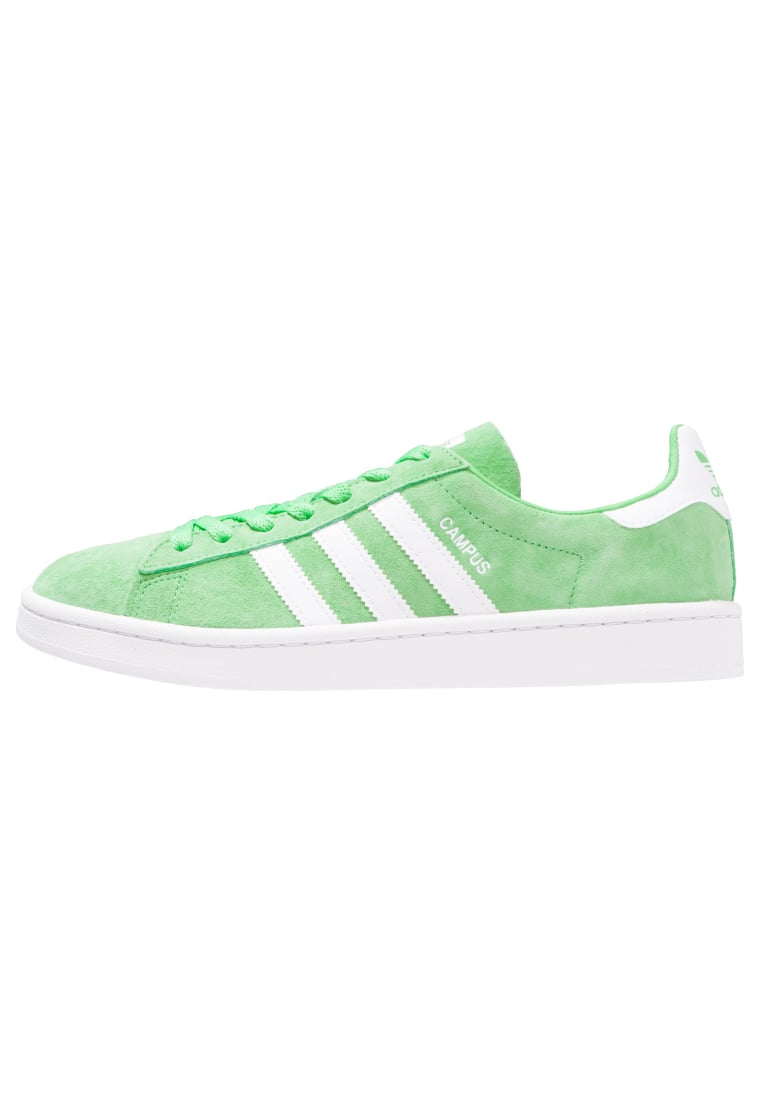 adidas Originals CAMPUS Tenisówki i Trampki green glow/white/crystal white - BEE98